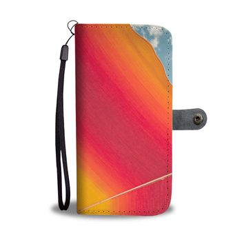 The Color Umbrella Phone Wallet Case