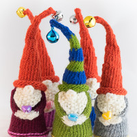 Christmas elf knitted decoration