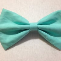 Tiffany / Aqua Blue Hair Bow
