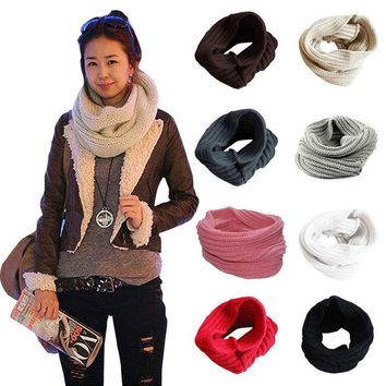 VONESC6 Ladies Girls All-match Winter Warm Knitting Wool Collar Neck Warmer Scarf Shawl Wraps High Quality
