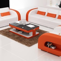 RUSELL LEATHER SOFA SET