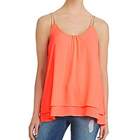 Freeway Tiered Sleeveless Top - Pink