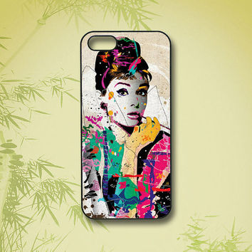 Audrey Hepburn, iPhone 5 Case, iPhone 4 Case, ipod touch 4  /5 case,Samsung Galaxy S4,Samsung Galaxy S3, Samsung note 2, blackberry z10, Q10