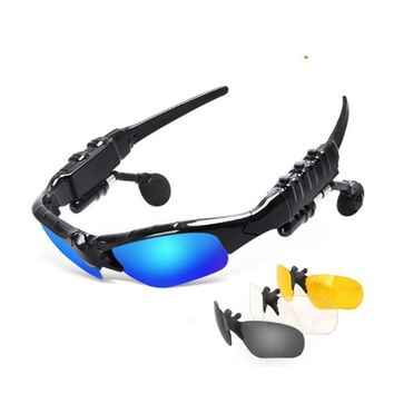 Bluetooth Headset Outdoor Glasses Earbuds Wireless Headphone