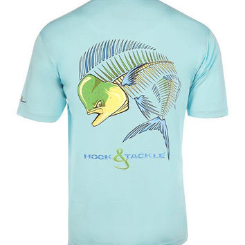 Men's Dolphin Action X-Ray Pocket UV Fishing T-Shirt