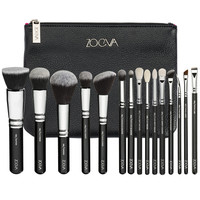 NEW ARRIVAL ZOEVA 15pcs Black Vegan Professional Makeup Brush Set