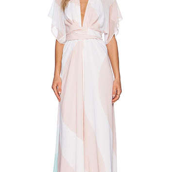 Issa Pollyanna Maxi Dress in Peach