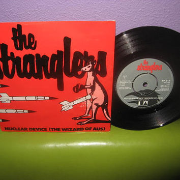 "Rare Vinyl Record The Stranglers - Nuclear Device 7"" 45RPM 1979 UK Import Punk Rock Icons"