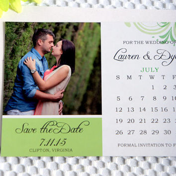 Save the Date Magnet - Wedding, Save the Dates, Save the Date Magnets, Photo Magnet, Personalized - DEPOSIT