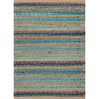 Sea Glass Stripe Jute Rug