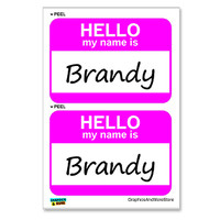 Brandy Hello My Name Is - Sheet of 2 Stickers