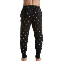 ONETOW Polo Ralph Lauren Pony Player Print Knit Jogger Sleep Pant PK03SR - Polo Ralph Lauren