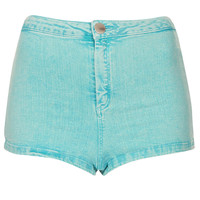 MOTO Turquoise Acid Hotpants - Shorts - Clothing - Topshop USA