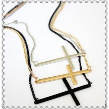 FREE Shipping New Fashion Costume Jewelry  Cross Pendant Necklace for Women Ladies  N N936