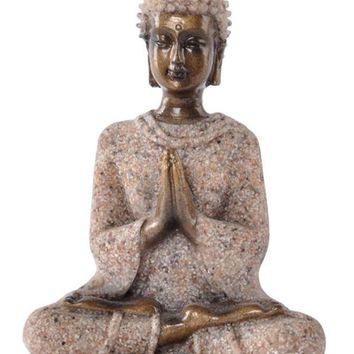 The Hue Sandstone Meditation Buddha Statue Sculpture