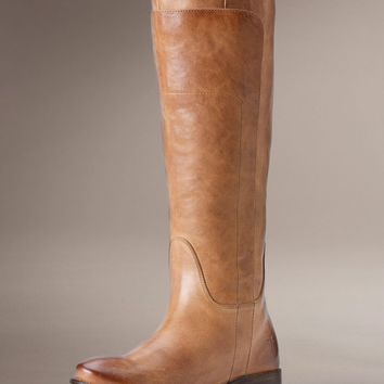 Frye Women's Vintage Paige Tall Riding Boot - Tan