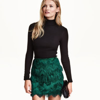 H&M Skirt with Fringe $39.99