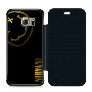 Nirvana Art Leather Wallet Flip Case Samsung Galaxy S6 Edge