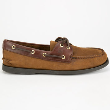 Sperry Top-Sider Authentic Original Mens Boat Shoes Brown Buck  In Sizes