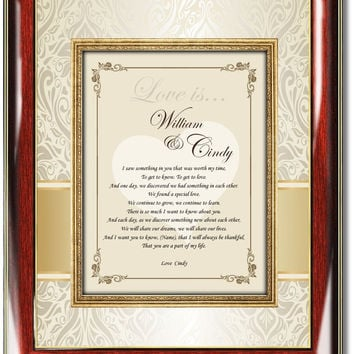 Love Poem Romantic Gift Frame