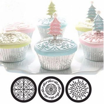 Rolling Cake Decorative Molds Vortex Texture Kid Turner Pattern DIY Bakery Cake Mold