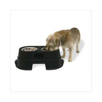 """Our Pets Healthy Pet Diner Elevated Dog Feeder Medium Black 23.5"""" x 13"""" x 8"""""""