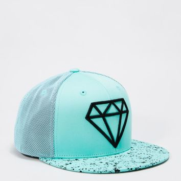 Paint Splattered Gemstone Snapback | Flat Brim Hats | rue21