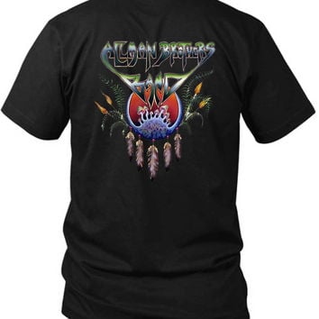 Allman Brothers Band Smurf 2 Sided Black Mens T Shirt