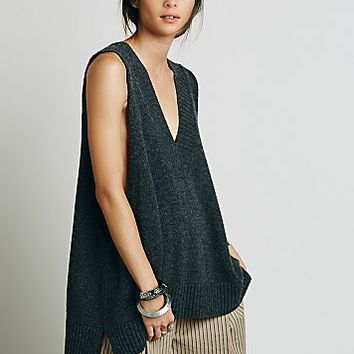 Free People Womens Lambswool Swing Vest