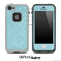 Subtle Blue Lace Pattern Skin for the iPhone 5 or 4/4s LifeProof Case