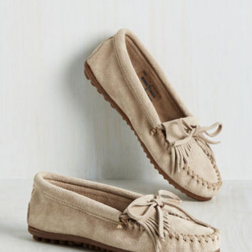 Fundamental Footwork Flat in Oatmeal | Mod Retro Vintage Flats | ModCloth.com