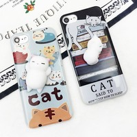 For OnePlus One Two Three X Five 1+1 2 3 X 5 Squishy Stereo Cat Claw Doll Case Mobile Phone Cover Bag Cellphone Housing Shell