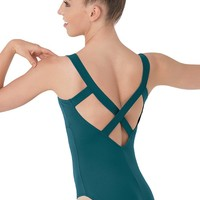 Low V Cross-Back Leotard | Balera™