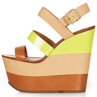 WANDA Leather Strip Wedges - New In This Week - New In - Topshop