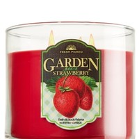 14.5 oz. 3-Wick Candle Garden Strawberry