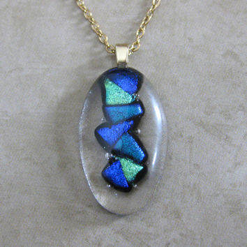 Dichroic Glass Necklace Niagara Falls by mysassyglass