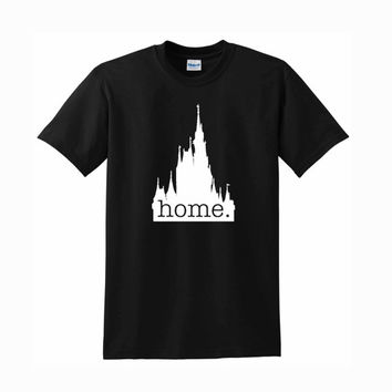 disney castle home logo For T-Shirt Unisex Aduls size S-2XL