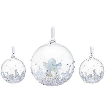 Swarovski Crystal Christmas Ornaments Set of 3 CHRISTMAS BALL 2015 #5136414