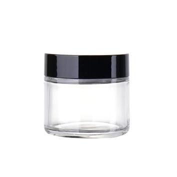 Travel Eyeshadow Face Cream Lotion Cosmetic Container 60ml Empty Cosmetic Jar Pots Portable Refillable Bottles Glass Tool P2