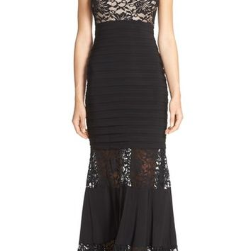 Xscape Lace & Pleat Jersey Gown | Nordstrom