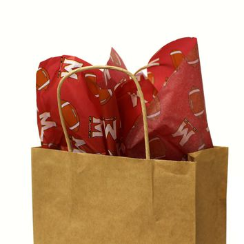 """University of Maryland Football and """"M"""" Logo / Tissue Paper Pack"""