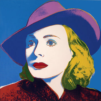 Andy Warhol II.194 Ingrid Bergman With Hat - 1983 - Signed Screenprint - COA - See Live at GallArt - Buy/Sell