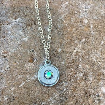 Bullet Necklace with Swarovski Crystals
