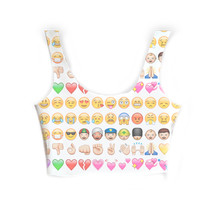 Emoji printed crop top