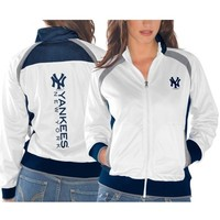 New York Yankees Ladies Gold Medal Track Jacket - White