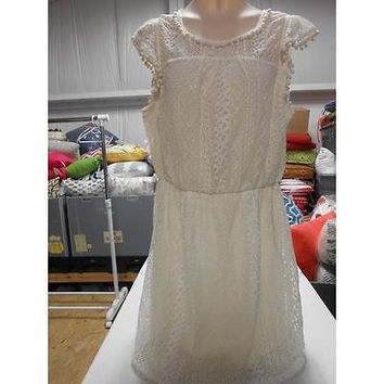 Women's Dress, White, Large Xhilaration