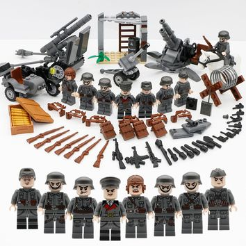 Military Figure Swat Team Army Germany soldiers Weapons German guns Mini ww2 modern Building Blocks Compatible Legoed Bricks Toy