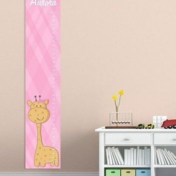 Girls Canvas Height Chart - 26 Designs