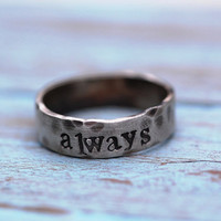 New DesignThe RUSTIC Unisex Ring by SomethingAboutSilver on Etsy