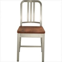 Emeco Navy Chair with Natural Wood Seat | All Modern